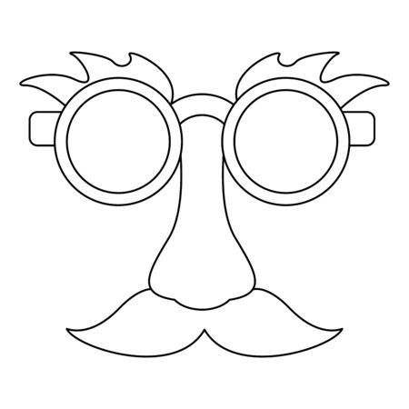Glasses and mustache with nose joke Design