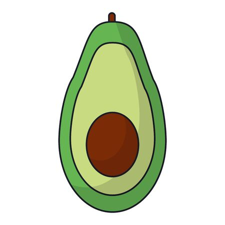 Avocado healthy food vegetable vector illustration graphic design Stok Fotoğraf - 124907914