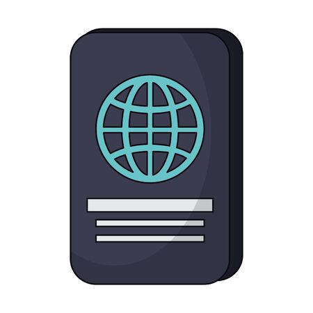 Passport document travel symbol vector illustration graphic design