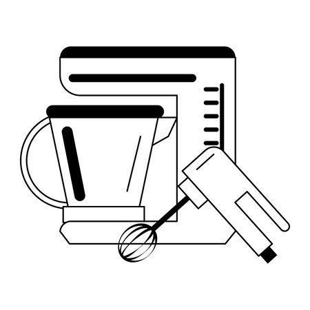 Kitchen utensils and supplies cartoons vector illustration graphic design Stock Vector - 124907890
