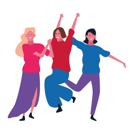 Happy people dancing and having fun vector illustration graphic design Reklamní fotografie - 124906633