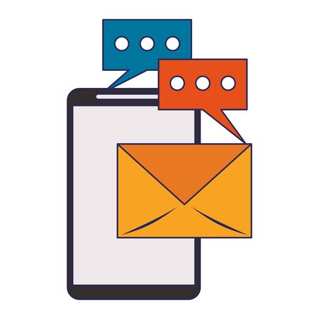 Business email and communication technology vector illustration graphic design
