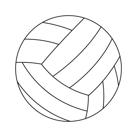 Voleyball sport ball symbol vector illustration graphic design Illustration