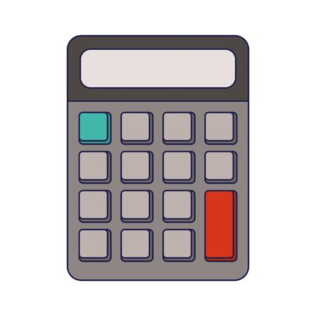 Calculator math device isolated Design