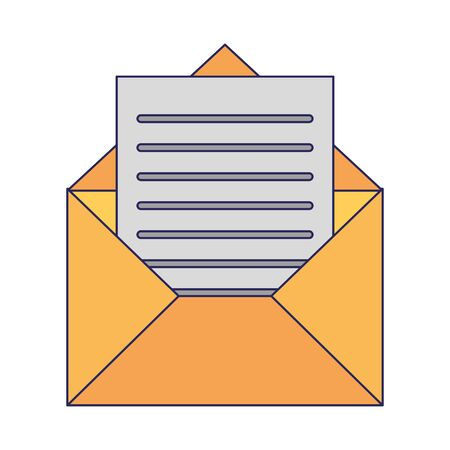 Envelope with letter symbol vector illustration graphic design