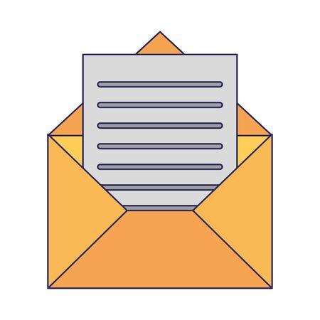 Sobre con diseño gráfico del ejemplo del vector del símbolo de la letra