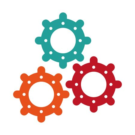 Gears machinery working isolated cartoon vector illustration graphic design Illustration