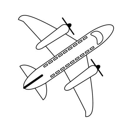 Airplane jet symbol topview vector illustration graphic design Illustration