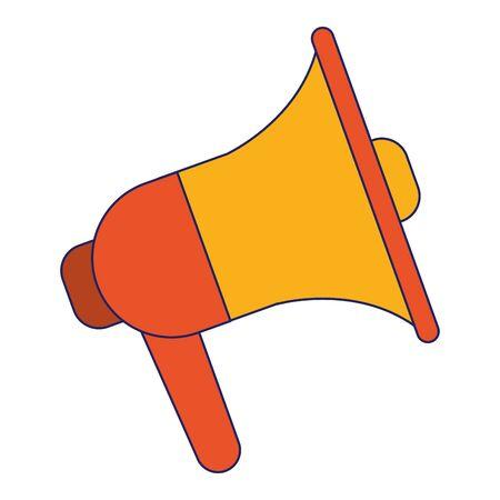 Bullhorn advertising symbol cartoon vector illustration graphic design
