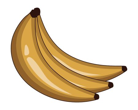 bananas icon cartoon vector illustration graphic design