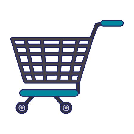 Shopping cart commerce isolated vector illustration graphic design