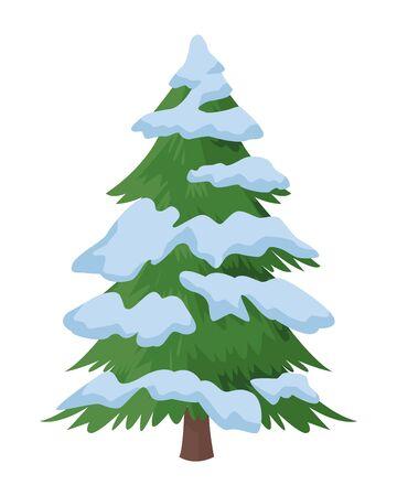 pine tree icon isolated vector illustration graphic design