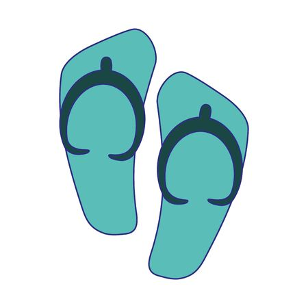 Flip flops sandals isolated vector illustration graphic design Illustration