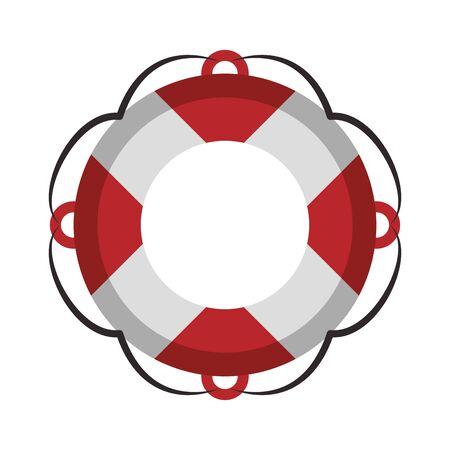 Float navigation lifesaver symbol isolated vector illustration graphic design Ilustração