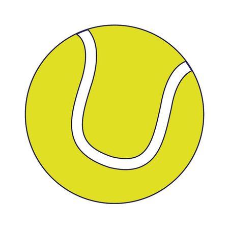 Tennis sport ball cartoon vector illustration graphic design