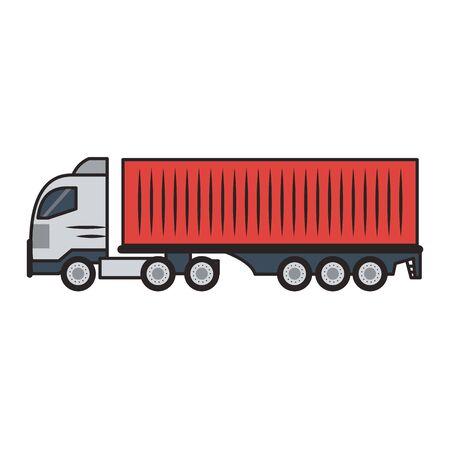 Cargo truck vehicle isolated vector illustration graphic design Illustration