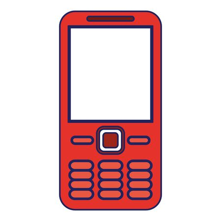 Cellphone communication device isolated icon ilustration vector Illustration