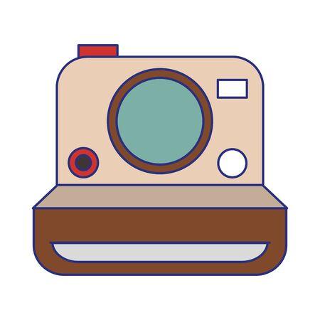vintage photographic camera symbol vector illustration graphic design