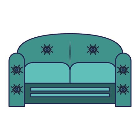 furniture concept couch scene cartoon vector illustration graphic design