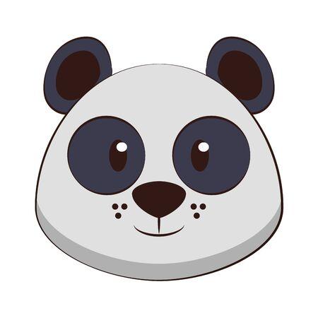 Panda head wildlife cute animal cartoon isolated vector illustration graphic design 일러스트