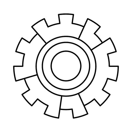 Big gear symbol machinery vector illustration graphic design Illustration