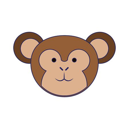 Monkey cute animal cartoon vector illustration graphic design