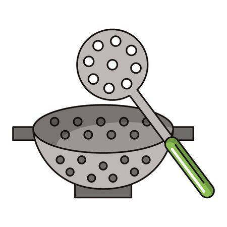 Kitchen utensils and supplies cartoons vector illustration graphic design Illustration