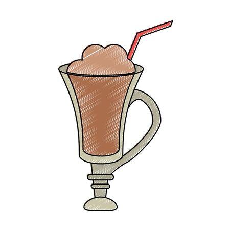 Delicious mocaccino cup vector illustration graphic design