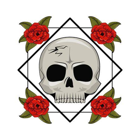 Tattoo old school drawings emblem vector illustration graphic design Ilustração