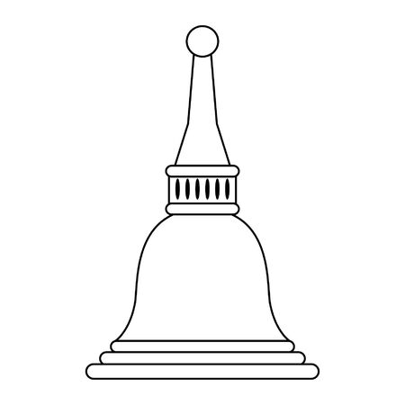 Indian temple dome symbol isolated vector illustration graphic design