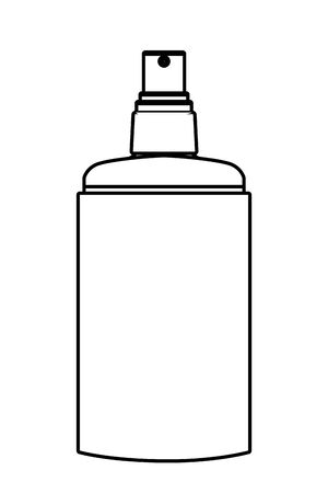 cosmetic spray jar icon cartoon isolated in black and white vector illustration graphic design