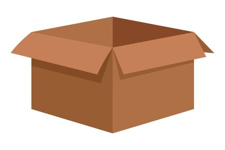 Boîte en carton icône vide cartoon vector illustration graphic design