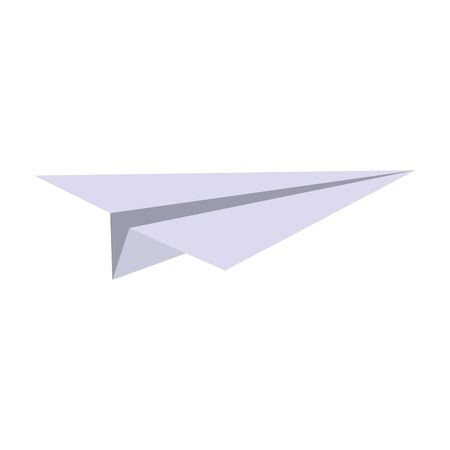 Paper plane origami symbol isolated vector illustration graphic design