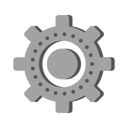 Gear machinery symbol isolated cartoon vector illustration graphic design Illustration