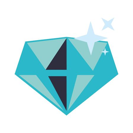 Diamond luxury rock symbol isolated vector illustration graphic design