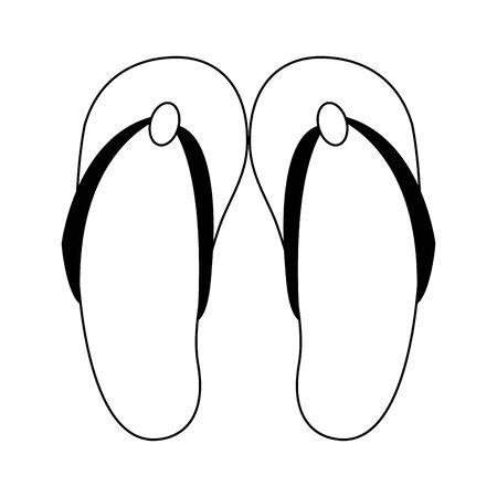 Flip flops sandals cartoon isolated symbol vector illustration graphic design