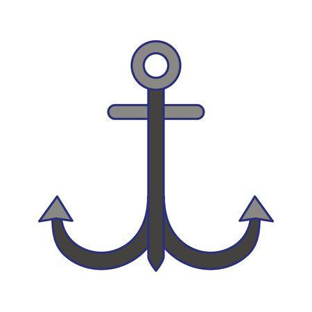 Anchor nautical marine symbol isolated vector illustration graphic design