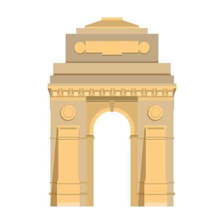 Indian gateway emblem building symbol isolated vector illustration graphic design