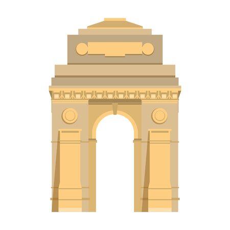 Indisches Gateway-Emblem-Gebäudesymbol isoliert Vektor-Illustration-Grafik-Design