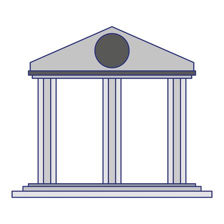 Bank antique building symbol isolated vector illustration graphic design Stockfoto - 125357140