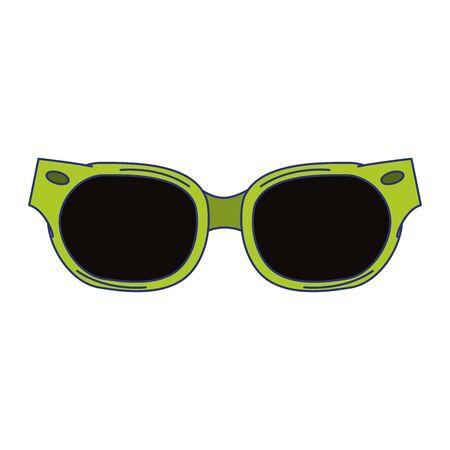 Fashion sunglasses accesory isolated cartoon vector illustration graphic design Illustration