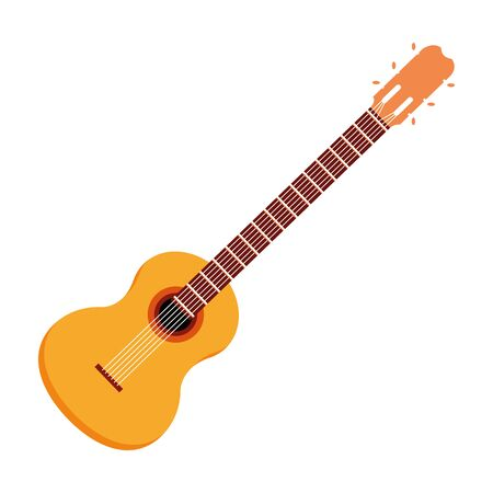 guitar acoustic icon cartoon isolated vector illustration graphic design Illustration