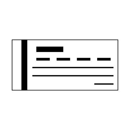 Bank check symbol isolated vector illustration graphic design Illustration