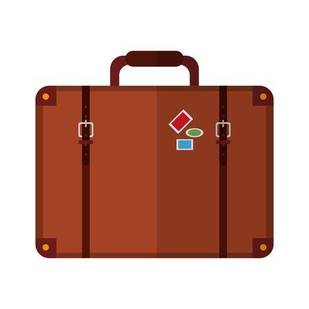 Diseño gráfico del ejemplo del vector aislado del símbolo de la maleta de viaje Ilustración de vector