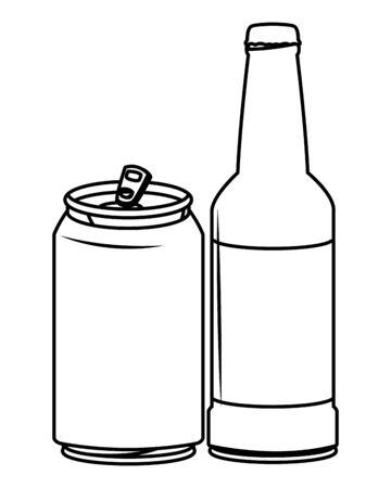 alcoholic drinks beverages cartoon vector illustration graphic design