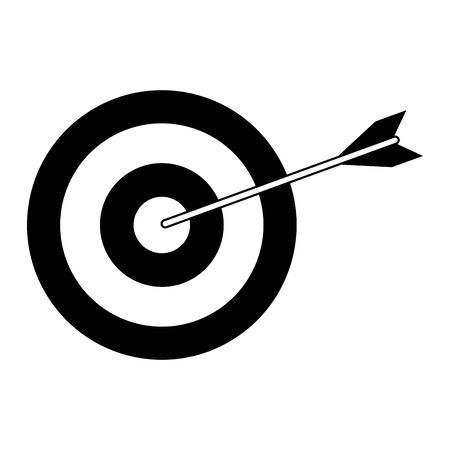 Target dartboard with arrow symbol isolated vector illustration graphic design Vectores