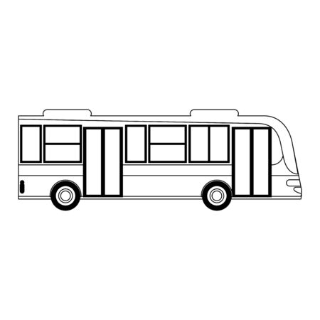 Public bus vehicle symbol sideview vector illustration graphic design