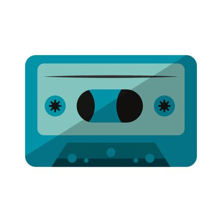retro music cassette device isolated vector illustration graphic design