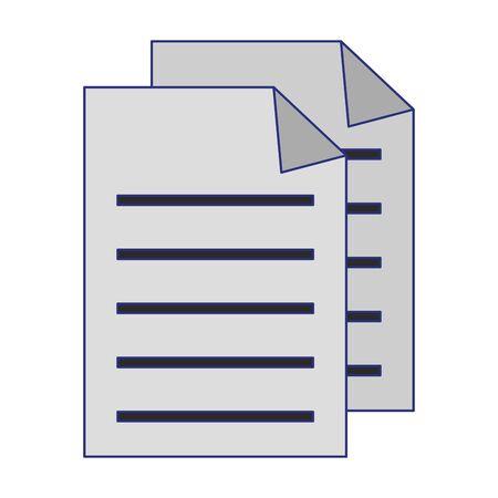 Documents with bent corner symbol vector illustration graphic design Illustration