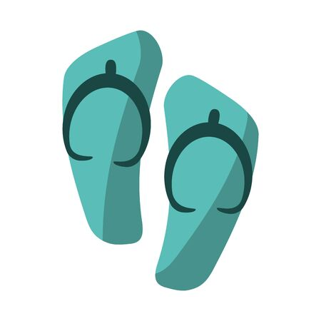 Flip flops sandals isolated vector illustration graphic design Ilustrace